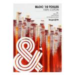 Bloc de toile 100% Coton 10 feuilles - 42 x 59,4 cm (A2)