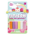 Gomme à modeler Patagom Kit Licorne 6 x 25 g