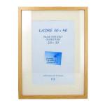 Cadre en MDF Carla chêne + passe-partout - 30 x 40 cm