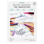 Kit papier Cartes postales les aquarelles