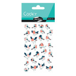 Stickers 3D Cooky oiseaux x 28 pcs