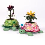 Cache pot tortue en papier mâché 19 x 16,5 x 7 cm