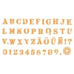 Stampo textile - Alphabet
