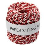Ficelle de papier Ep. 1 mm 50 m Rouge et Blanc