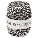 Ficelle de papier Ep. 1 mm 50 m Noir et blanc