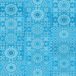 Feuille Décopatch - Rosaces bleu - 30 x 40 cm