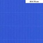 Carton ondulé mini - Bleu France - 50 x 70 cm