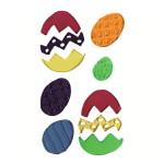 Déco Gelly Œufs de Pâques - 6 pcs