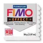 Pâte polymère Fimo Effect 56g - 052 - Blanc pailleté