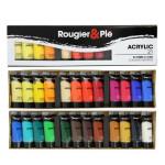 Peinture acrylique 21 ml Boite de 24 tubes