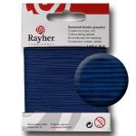Fil de coton ciré 1 mm x 20 m - Bleu foncé