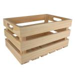 Caisse de rangement vintage en bois - 35 x 25 x 19,5 cm