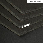 Carton mousse 3mm noir - 29,7 x 42 cm