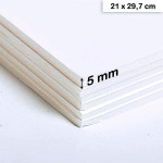 Carton mousse 5mm - 21 x 29,7 cm