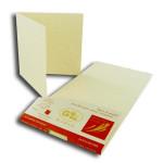 Eclat d'Or - 20 cartes doubles 13 x 13 cm - blanc