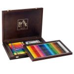 Coffret beaux-arts en bois - 30 crayons Prismalo + 40 NEOCOLOR II