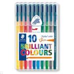 10 feutres fins Triplus Brillant Color