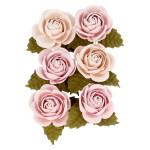Fleur en papier Secret Garden 6 pcs