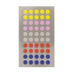 Gommettes rondes multicolores 8 mm