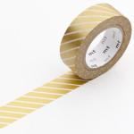 Masking tape or rayé blanc
