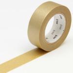 Masking tape uni doré