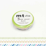 Rubans décoratifs adhésifs fins - Motifs Pastel - 0,3 mm - Set de 3