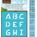 Set de 6 pochoirs enfants - Alphabet