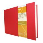 Livre à croquis format paysage couverture rouge 140g/m² - 21 x 29,7 cm (A4)