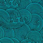 Papier Lokta Imprimé 50 x 75 cm Bleu motif Okinawa