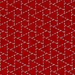 Papier Lokta Imprimé 50 x 75 cm Rouge motif Triangle Sankakkei