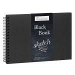 Carnet Black Book pour huile et acrylique 250 g/m² - 14,8 x 21 cm (A5)