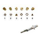 Pointe pour pyrograveur F21 + motifs 1 à 6
