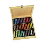 Coffret en bois 36 pastels à l'écu