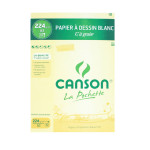 Canson C à GRAIN, Grain Fin 224g/m², pochette - 21 x 29,7 cm (A4)