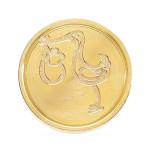 Sceau gravé symbole Bébé + cigogne