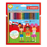 STABILO COLOR SET 24 CRAYONS
