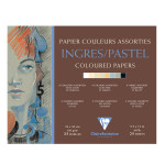Bloc de papier Ingres teintes assorties 130 g/m² - 24 x 30 cm