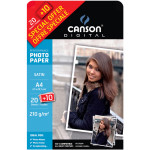 Papier photo satiné Performance A4 - 210 g/m² - 20 + 10 feuilles