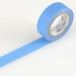 Masking tape uni bleu vif