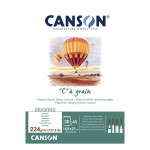 Bloc de papier C à Grain 224 g/m² 30 feuilles - 14,8 x 21 cm (A5)