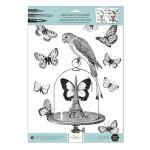 Gravure à colorier 30 x 40 cm 300 g/m² + 100 g/m² Les papillons