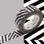 Masking Tape x Artist Kapitza Chevrons noirs 15 mm x 10 m