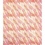 Papier Japonais 52 x 65,5 cm 100 g/m² Fleurs fond Rouge & Rose