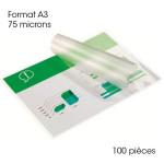Pochette de plastification A3 75 microns Brillante 100 pcs