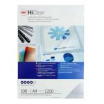 Plat de couverture HiClear A4 200 microns Ultra transparent 100 pcs