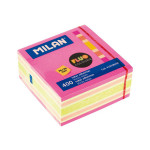 Bloc-notes adhésives Fluo 76 x 76 mm 400 pcs