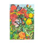 Carnet souple ligné Jardin aux papillons 9,5 x 14 cm 80 g/m² 208 p