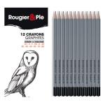 Crayon graphite Assortiment 12 pièces
