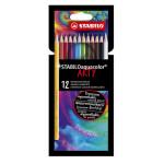 Crayons de couleur Aquacolor Set Arty 12 couleurs