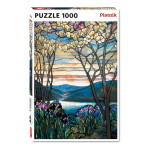Puzzle Magnolias et iris 1000 pièces